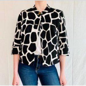 East 5th Giraffe Print Swing Cropped Jacket XL